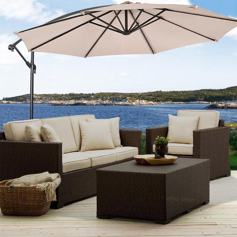Sombrilla-Parasol-3-metros-Terraza-Jardin-Patio-Ajustable-Proteccion-Solar-UV miniatura 3