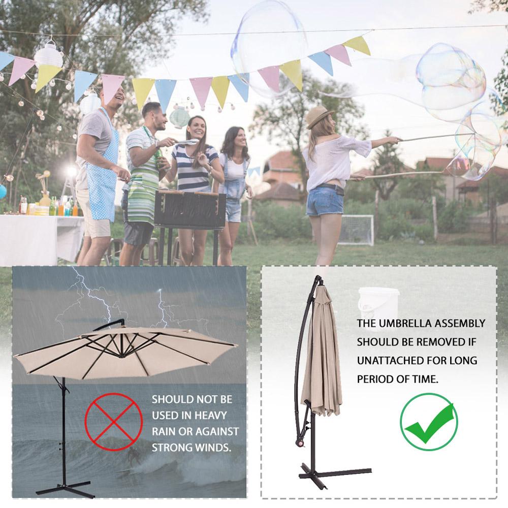 Sombrilla-Parasol-3-metros-Terraza-Jardin-Patio-Ajustable-Proteccion-Solar-UV miniatura 6