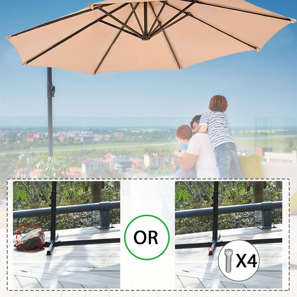 Sombrilla-Parasol-3-metros-Terraza-Jardin-Patio-Ajustable-Proteccion-Solar-UV miniatura 9