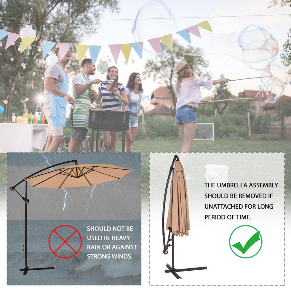 Sombrilla-Parasol-3-metros-Terraza-Jardin-Patio-Ajustable-Proteccion-Solar-UV miniatura 10