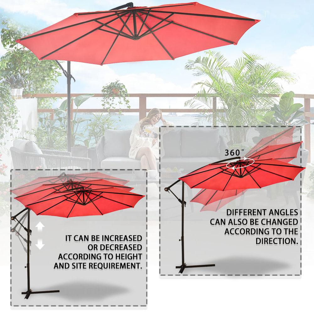 Sombrilla-Parasol-3-metros-Terraza-Jardin-Patio-Ajustable-Proteccion-Solar-UV miniatura 12