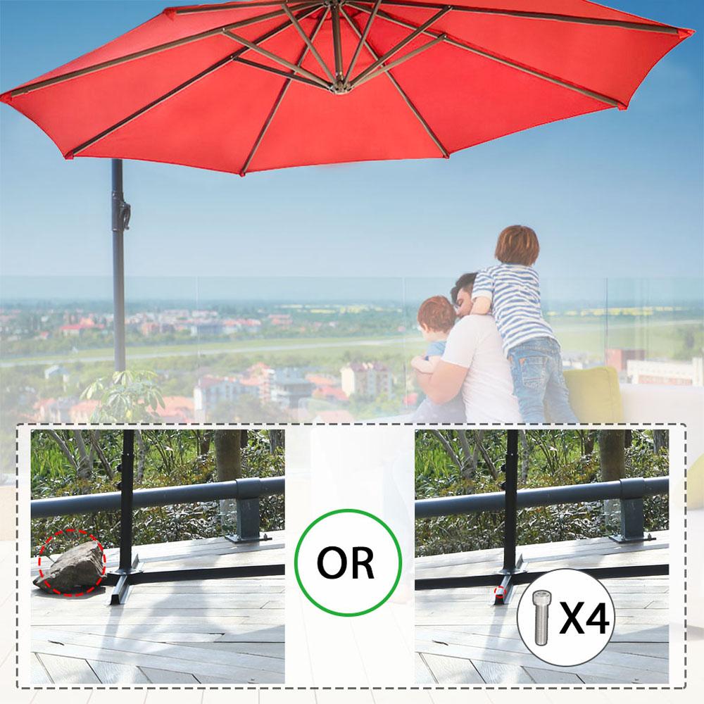 Sombrilla-Parasol-3-metros-Terraza-Jardin-Patio-Ajustable-Proteccion-Solar-UV miniatura 13