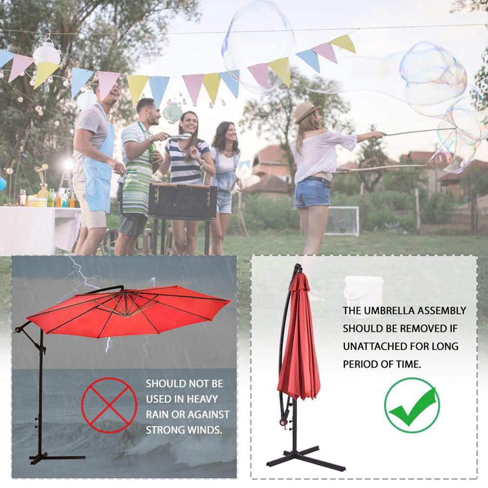 Sombrilla-Parasol-3-metros-Terraza-Jardin-Patio-Ajustable-Proteccion-Solar-UV miniatura 14